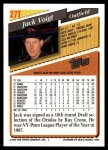 1993 Topps Traded #27 T Jack Voigt  Back Thumbnail