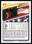 1993 Topps Traded #67 T  -  Todd Dunn Team USA Back Thumbnail