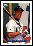 1993 Topps Traded #67 T  -  Todd Dunn Team USA Front Thumbnail