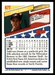 1993 Topps Traded #67 T  -  Todd Dunn Team USA Back Thumbnail