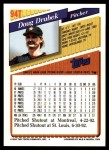 1993 Topps Traded #94 T Doug Drabek  Back Thumbnail