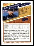 1993 Topps Traded #129 T John Cummings  Back Thumbnail