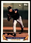 1993 Topps Traded #129 T John Cummings  Front Thumbnail