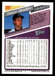 1993 Topps Traded #39 T Danny Sheaffer  Back Thumbnail