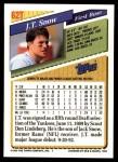1993 Topps Traded #62 T J.T.Snow  Back Thumbnail
