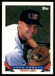 1993 Topps Traded #131 T  -  John Powell Team USA Front Thumbnail