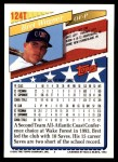 1993 Topps Traded #124 T  -  Bret Wagner Team USA Back Thumbnail