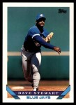 1993 Topps Traded #114 T Dave Stewart  Front Thumbnail