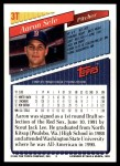 1993 Topps Traded #3 T Aaron Sele  Back Thumbnail