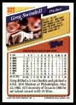 1993 Topps Traded #32 T Greg Swindell  Back Thumbnail