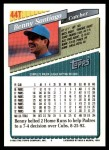 1993 Topps Traded #44 T Benny Santiago  Back Thumbnail
