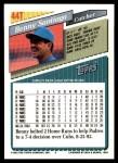 1993 Topps Traded #44 T Benny Santiago  Back Thumbnail
