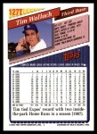 1993 Topps Traded #127 T Tim Wallach  Back Thumbnail