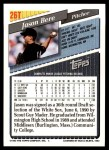 1993 Topps Traded #26 T Jason Bere  Back Thumbnail