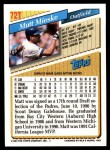 1993 Topps Traded #72 T Matt Mieske  Back Thumbnail