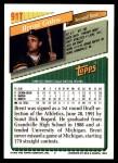 1993 Topps Traded #91 T Brent Gates  Back Thumbnail