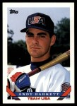 1993 Topps Traded #93 T  -  Andy Barkett Team USA Front Thumbnail