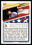 1993 Topps Traded #93 T  -  Andy Barkett Team USA Back Thumbnail