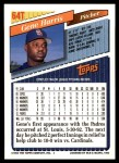 1993 Topps Traded #64 T Gene Harris  Back Thumbnail
