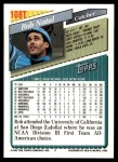 1993 Topps Traded #108 T Rob Natal  Back Thumbnail