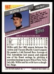 1993 Topps Traded #96 T Willie Blair  Back Thumbnail