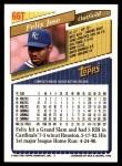 1993 Topps Traded #66 T Felix Jose  Back Thumbnail