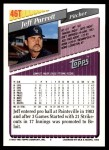 1993 Topps Traded #46 T Jeff Parrett  Back Thumbnail