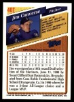 1993 Topps Traded #40 T Jim Converse  Back Thumbnail