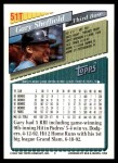 1993 Topps Traded #51 T Gary Sheffield  Back Thumbnail