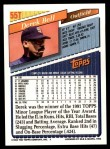 1993 Topps Traded #55 T Derek Bell  Back Thumbnail