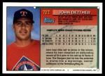 1994 Topps Traded #72 T John Dettmer  Back Thumbnail