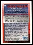 1994 Topps Traded #85 T Doug Million  Back Thumbnail
