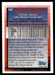 1994 Topps Traded #116 T Matt Smith  Back Thumbnail