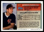 1994 Topps Traded #62 T Jorge Fabregas  Back Thumbnail