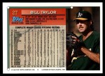 1994 Topps Traded #2 T Bill Taylor  Back Thumbnail