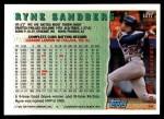 1994 Topps Traded #131 T  -  Ryne Sandberg  Highlights Back Thumbnail