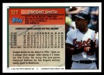 1994 Topps Traded #52 T Dwight Smith  Back Thumbnail