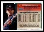1994 Topps Traded #118 T Gregg Olson  Back Thumbnail
