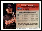 1994 Topps Traded #125 T Chris Sabo  Back Thumbnail