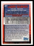1994 Topps Traded #38 T Larry Barnes  Back Thumbnail