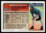 1994 Topps Traded #47 T Greg Colbrunn  Back Thumbnail