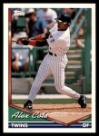 1994 Topps Traded #12 T Alex Cole  Front Thumbnail