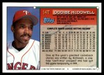 1994 Topps Traded #14 T Oddibe McDowell  Back Thumbnail