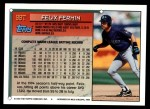 1994 Topps Traded #99 T Felix Fermin  Back Thumbnail