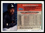 1994 Topps Traded #25 T Julio Franco  Back Thumbnail