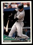 1994 Topps Traded #82 T Howard Johnson  Front Thumbnail