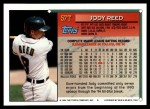 1994 Topps Traded #57 T Jody Reed  Back Thumbnail