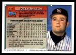 1994 Topps Traded #48 T Joey Hamilton  Back Thumbnail