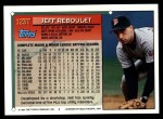 1994 Topps Traded #123 T Jeff Reboulet  Back Thumbnail