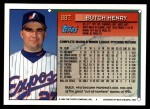 1994 Topps Traded #88 T Butch Henry  Back Thumbnail
